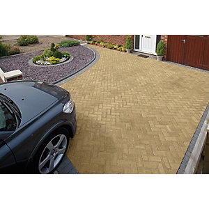 Marshalls Driveline Priora Driveway Block Paving - Buff 200 x 100 x 60mm Pack of 404