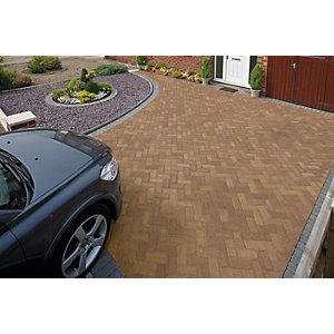 Marshalls Driveline Priora Driveway Block Paving - Bracken 200 x 100 x 60mm Pack of 404