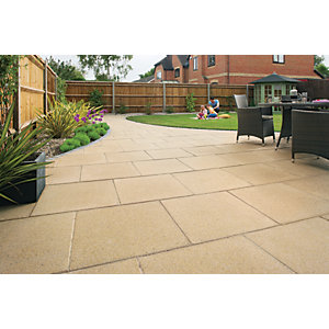 Marshalls Perfecta Smooth Buff Paving Slab 450 x 450 x 35 mm - 12.15m2 pack