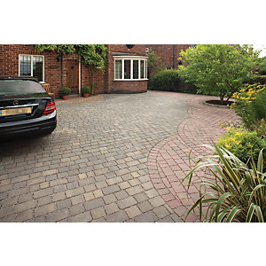 Marshalls Drivesett Tegula Priora Driveway Block Paving - Harvest 240 x 160 x 60mm Pack of 232