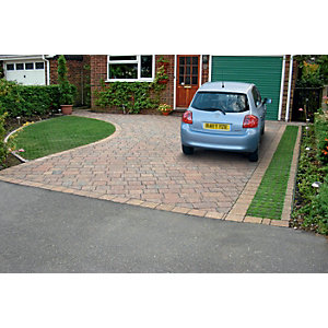 Marshalls Drivesett Tegula Priora Driveway Block Paving - Traditional 120 x 160 x 60mm Pack of 492
