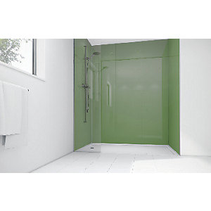 Mermaid Forest Green Acrylic Single Shower Panel