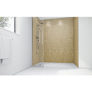Mermaid Sandstone Laminate Single Shower Panel 2400mm x 1200mm
