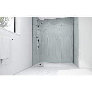 Mermaid Egyptian Marble Gloss Laminate Single Shower Panel