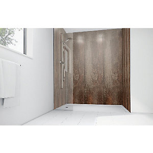 Mermaid Cinders Gloss Laminate Single Shower Panel