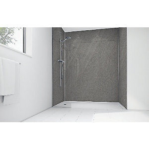 Mermaid Lunar Grey Laminate Single Shower Panel