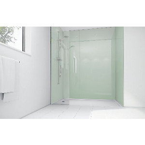 Mermaid Mint Acrylic 3 Sided Shower Panel Kit