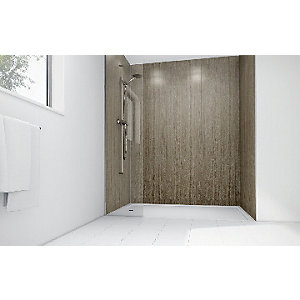 Mermaid Roman Stone Laminate 3 sided Shower Panel Kit