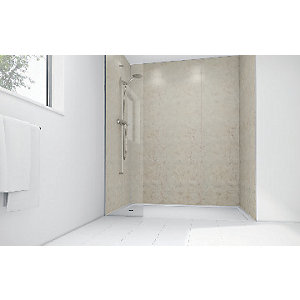 Mermaid Sorento Marble Laminate Single Shower Panel