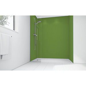 Mermaid Forest Green Matte Acrylic 3 Sided Shower Panel Kit