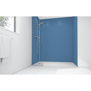 Mermaid Blue Lagoon Matte Acrylic 3 Sided Shower Panel Kit