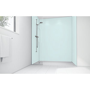 Mermaid Mint Matte Acrylic 3 Sided Shower Panel Kit