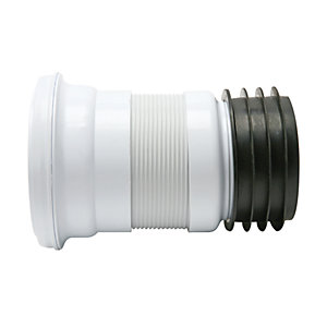 Fluidmaster Flexible Short Pan Connector - 200-350mm