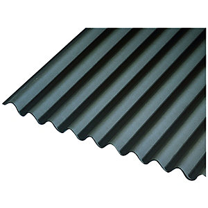 Onduline Black Bitumen Corrugated Roof Sheet - 950mm x 2000mm x 3mm