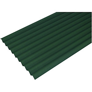 Onduline Green Bitumen Corrugated Roof Sheet - 950mm x 2000mm x 3mm