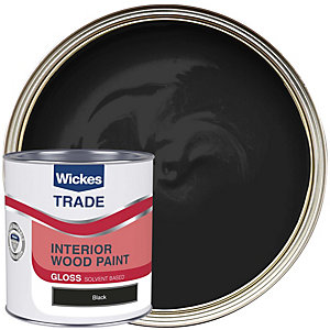 Wickes Trade Liquid Gloss Black 1L