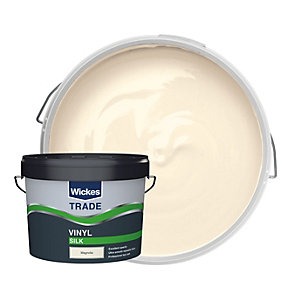Wickes Trade Vinyl Silk Emulsion Paint - Magnolia 10L