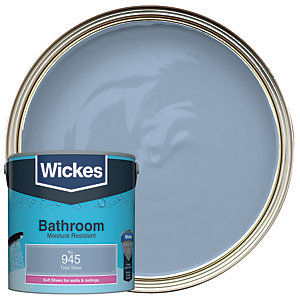 Wickes Tidal Wave - No. 945 Bathroom Soft Sheen Emulsion Paint - 2.5L