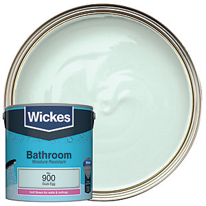 Wickes Duck Egg - No. 900 Bathroom Soft Sheen Emulsion Paint - 2.5L