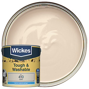 Wickes Calico - No. 410 Tough & Washable Matt Emulsion Paint - 2.5L