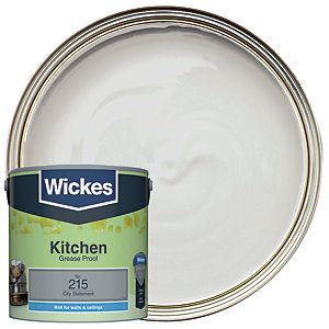 Wickes City Statement - No.215 Kitchen Matt Emulsion Paint - 2.5L