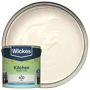 Wickes Ivory - No. 400 Kitchen Matt Emulsion Paint - 2.5L