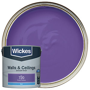 Wickes Purple Passion - No.720 Vinyl Matt Emulsion Paint - 2.5L