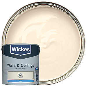 Wickes Biscuit - No.320 Vinyl Matt Emulsion Paint - 2.5L