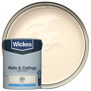 Wickes Biscuit - No. 320 Vinyl Matt Emulsion Paint - 5L