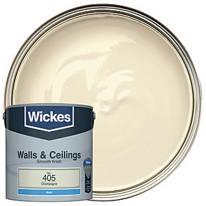Wickes Champagne - No.405 Vinyl Matt Emulsion Paint - 2.5L