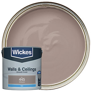 Wickes Driftwood - No.445 Vinyl Matt Emulsion Paint - 2.5L
