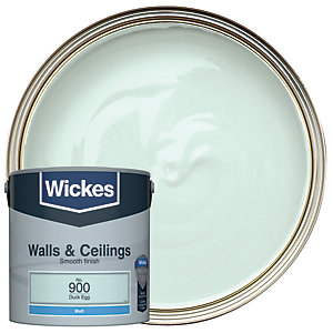 Wickes Duck Egg - No.900 Vinyl Matt Emulsion Paint - 2.5L