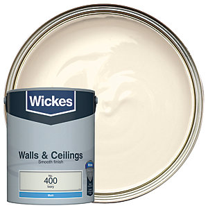 Wickes Ivory - No. 400 Vinyl Matt Emulsion Paint - 5L