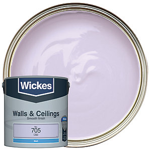 Wickes Lilac - No.705 Vinyl Matt Emulsion Paint - 2.5L
