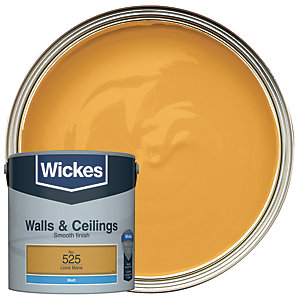 Wickes Lion's Mane - No.525 Vinyl Matt Emulsion Paint - 2.5L