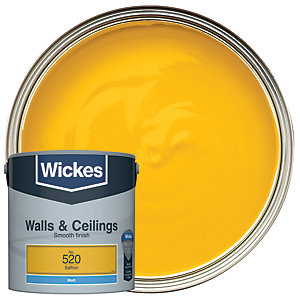 Wickes Saffron - No.520 Vinyl Matt Emulsion Paint - 2.5L