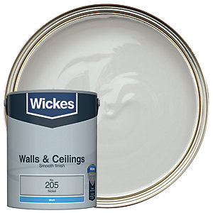 Wickes Nickel - No. 205 Vinyl Matt Emulsion Paint - 5L