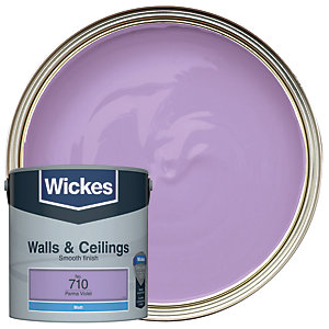 Wickes Parma Violet - No.710 Vinyl Matt Emulsion Paint - 2.5L