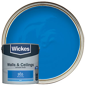 Wickes Brilliant Blue - No.955 Vinyl Matt Emulsion Paint - 2.5L