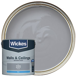 Wickes Pewter - No.220 Vinyl Matt Emulsion Paint - 2.5L