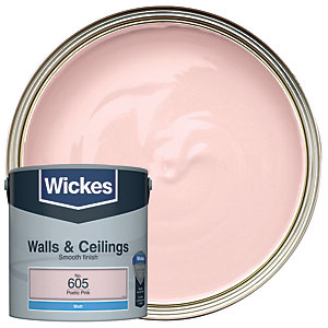 Wickes Poetic Pink - No.605 Vinyl Matt Emulsion Paint - 2.5L