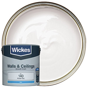 Wickes Powder Grey - No.140 Vinyl Matt Emulsion Paint - 2.5L