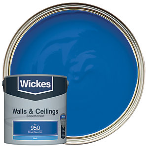Wickes Royal Sapphire - No.950 Vinyl Matt Emulsion Paint - 2.5L