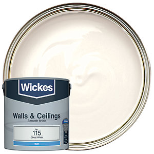 Wickes Ghost White - No.115 Vinyl Matt Emulsion Paint - 2.5L
