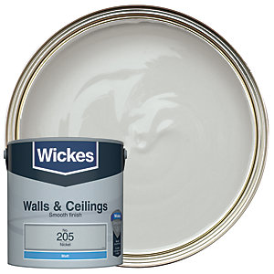 Wickes Nickel - No.205 Vinyl Matt Emulsion Paint - 2.5L