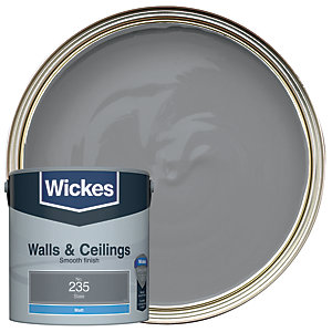 Wickes Slate - No.235 Vinyl Matt Emulsion Paint - 2.5L