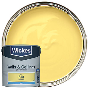 Wickes Sunbeam - No.510 Vinyl Matt Emulsion Paint - 2.5L