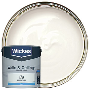 Wickes Victorian White - No.125 Vinyl Matt Emulsion Paint - 2.5L