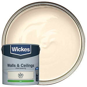 Wickes Biscuit - No.320 Vinyl Silk Emulsion Paint - 2.5L