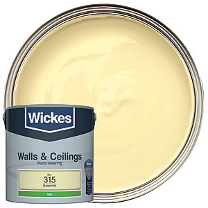 Wickes Buttermilk - No.315 Vinyl Silk Emulsion Paint - 2.5L